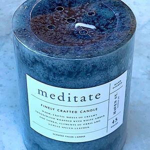 HAVEN STREET CANDLE MEDITATE FINELY CRAFTED PILLAR